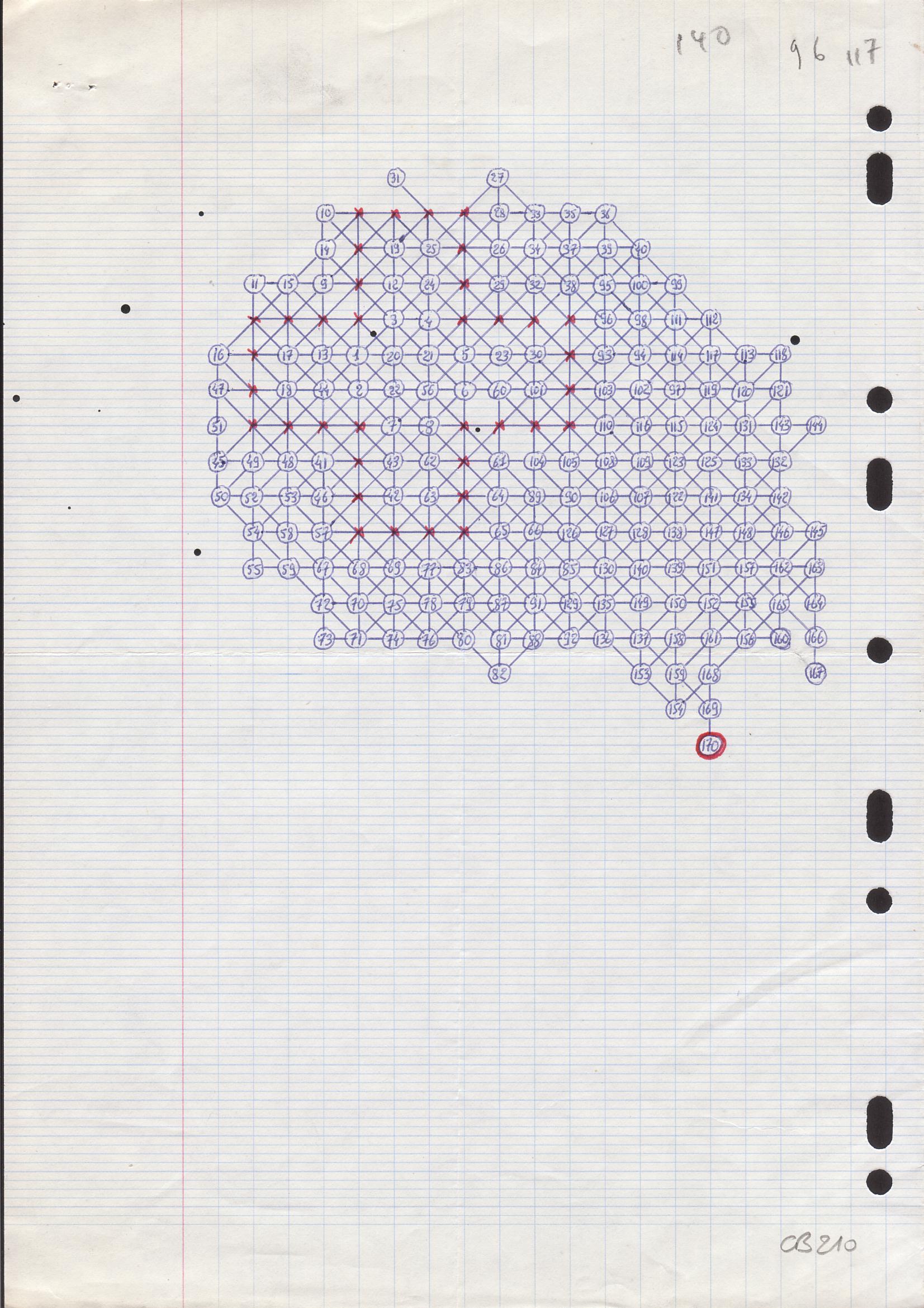 lettre originale Morpion Solitaire   Grille Record de Bruneau (jeu 5T) lettre originale